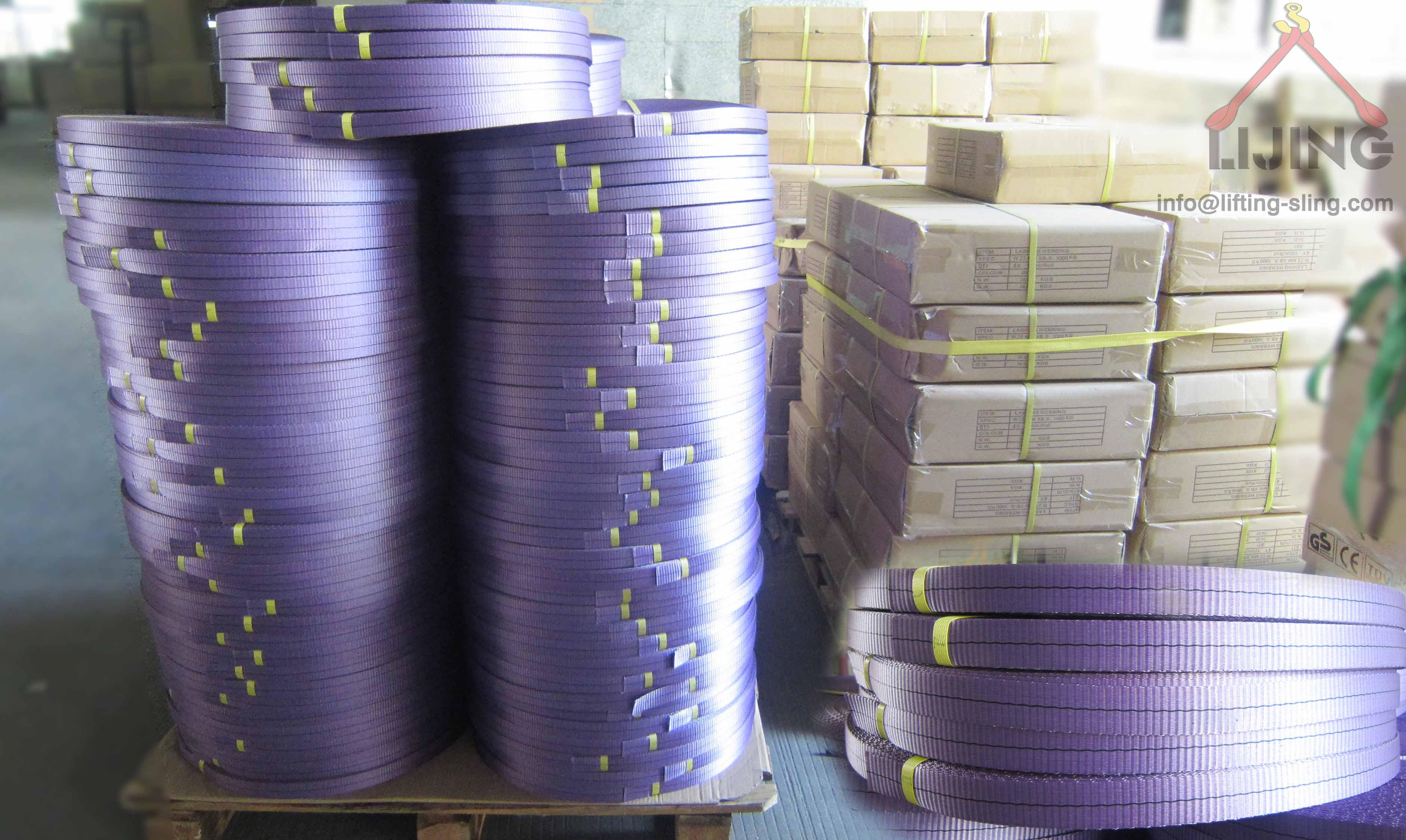 polyester webbing for slings
