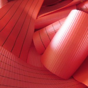 5T red webbing belt