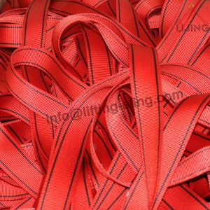 red safety harness belt
